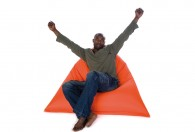 x large tryangle green τρίγωνο πουφ